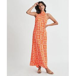 Petite Tiled Halter Maxi Dress
