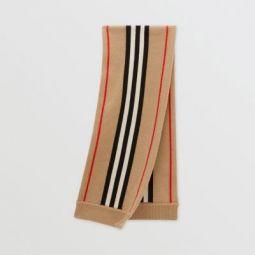 Icon Stripe Cashmere Wool Scarf