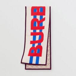 Logo Merino Wool Jacquard Scarf