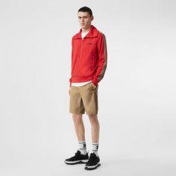 Icon Stripe Detail Cotton Twill Chino Shorts