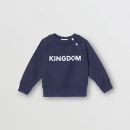 Kingdom Motif Cotton Sweatshirt