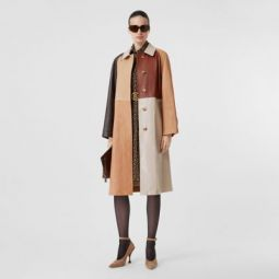 Patchwork Lambskin and Leather Car Coat