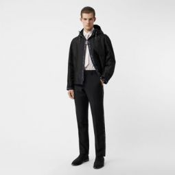Classic Fit Logo Detail Wool Mohair Tailored Trousers