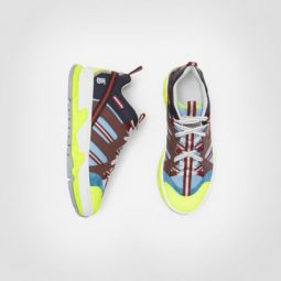 Nylon, Nubuck and Suede Union Sneakers