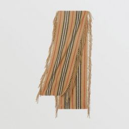 Fringed Icon Stripe Cashmere Scarf