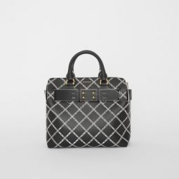 The Small Perforated Link Leather Belt Bag