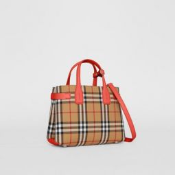 The Small Banner in Vintage Check and Leather
