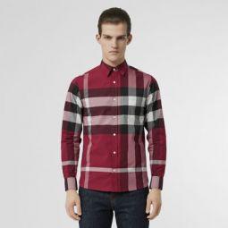 Check Stretch Cotton Shirt