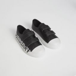 Logo Print Two-tone Leather Sneakers