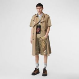 Tiger Print Nylon Shorts