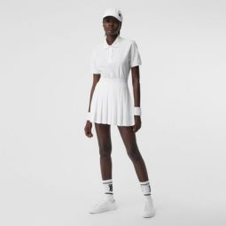 Pleated Jersey Tennis Skirt