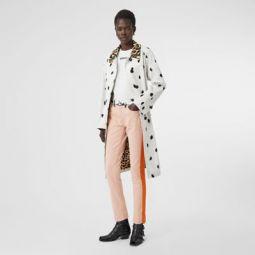 Straight Fit Cow Print Trim Japanese Denim Jeans