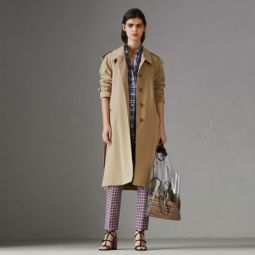 Side-slit Tropical Gabardine Trench Coat