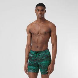 Sea Print Drawcord Swim Shorts