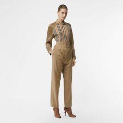 Double-waist Mohair Wool Trousers