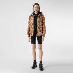 Deer Print ECONYL Hooded Jacket