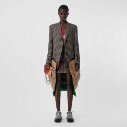 Tartan Wool Tailored Jacket with Detachable Gilet