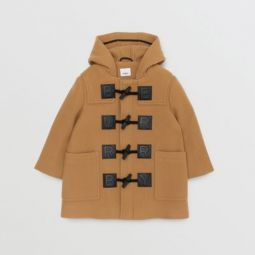 Logo Detail Wool Cashmere Blend Duffle Coat