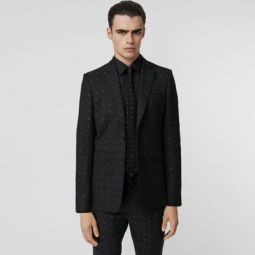 English Fit Fil Coupe Wool Cotton Tailored Jacket
