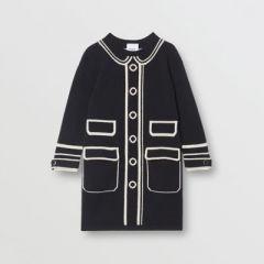 Trompe L'Oeil Intarsia Cashmere Sweater Dress