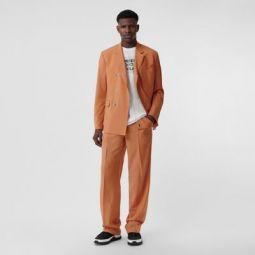 Tumbled Wool Wide-leg Trousers