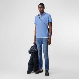 Monogram Motif Cotton Pique Polo Shirt