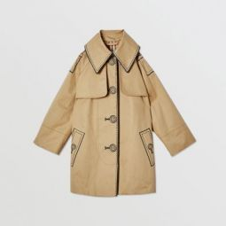 Trompe L'Oeil Cotton Swing Coat