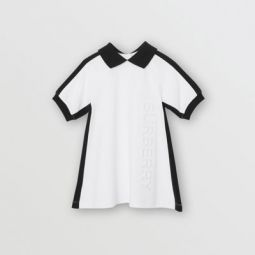 Embossed Logo Cotton Polo Dress