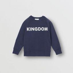 Kingdom Motif Cotton Sweatshirt