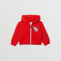Logo Graphic Cotton Hooded Top