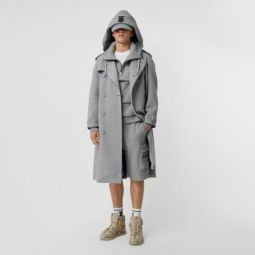 Cotton Jersey Trench Coat
