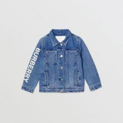Logo Print Japanese Denim Jacket