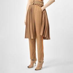 Satin Stripe Crepe Tailored Trousers