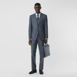 Classic Fit Wool Mohair Blend Three-piece Suit
