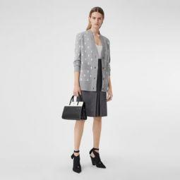 Monogram Wool Cashmere Blend Oversized Cardigan