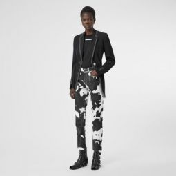 Straight Fit Cow Print Jeans