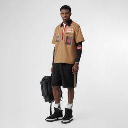 Icon Stripe Detail Cotton Blend Shorts