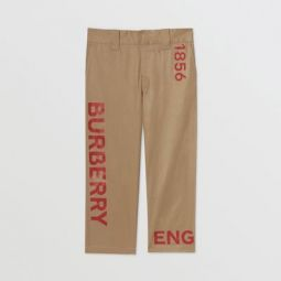 Horseferry Print Cotton Twill Trousers