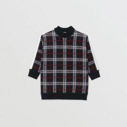 Check Merino Wool Jacquard Sweater Dress