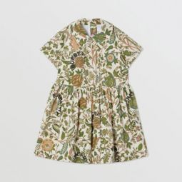 Botanical Print Cotton Dress
