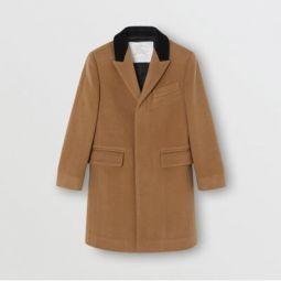 Velvet Collar Cashmere Tailored Coat