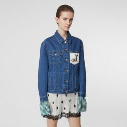 Deer Motif Japanese Denim Jacket