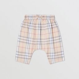 Vintage Check Cotton Drawcord Trousers