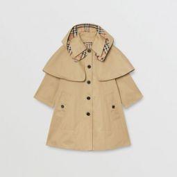 Detachable Hood Showerproof Cotton Swing Coat