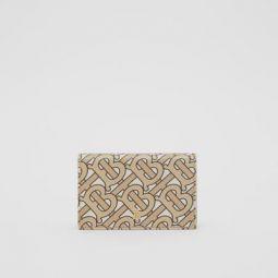 Small Monogram Print Leather Folding Wallet