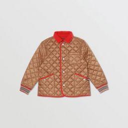 Icon Stripe Trim Lightweight Diamond Quilted Jacket