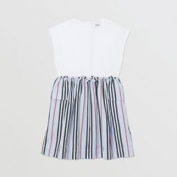 Icon Stripe Cotton Dress