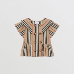 Icon Stripe Cotton Poplin Sailor Top