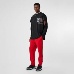 Icon Stripe Detail Jersey Trackpants