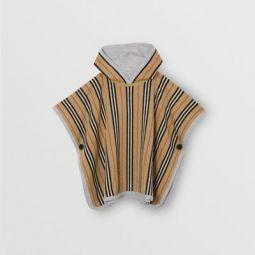 Reversible Icon Stripe Merino Wool Hooded Poncho